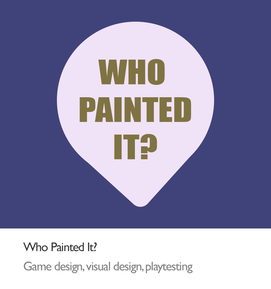logo of Who Painted It, an art education board game